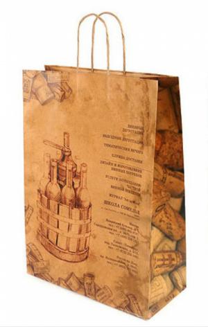 Пакет бумажный с веревочной ручкой 450*600*150 мм